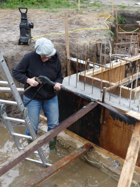 Voorbereidingen graven fundering